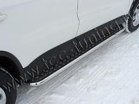 Пороги с площадкой 42,4 мм на Volkswagen Tiguan (2011 -) ТСС VWTIG11-02