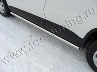 "Пороги ""труба"" 60,3 мм на Volkswagen Tiguan (2011 -) ТСС VWTIG11-03"