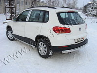 Защита задняя (центральная) 75х42 мм на Volkswagen Tiguan (2011 -) ТСС VWTIG11-05