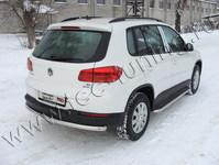 Защита задняя (центральная) 60,3 мм на Volkswagen Tiguan (2011 -) ТСС VWTIG11-06