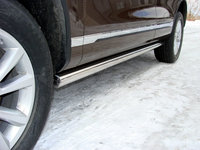 "Пороги ""труба"" 76,1 мм на Volkswagen Touareg (2010 -) ТСС VWTOUAR10-03"