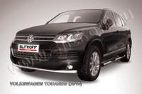 Защита переднего бампера d57  для Volkswagen Touareg (2010 -) Слиткофф VWTR-005