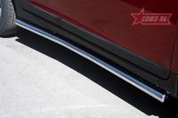 Пороги труба d60 для Volvo XC60 (2008 -) СОЮЗ-96 VXC6.80.0842